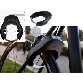 LINKA Cerradura de cuadro electrónica - Candado bicicleta - 152mm negro